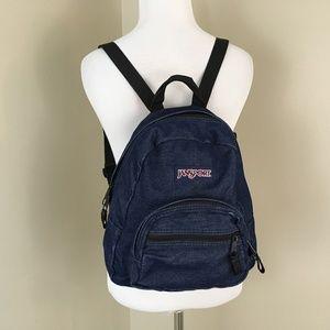 408c5a99335 Jansport VTG Denim Jean Mini Small Backpack Bag